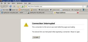 Friendster connection interrupted